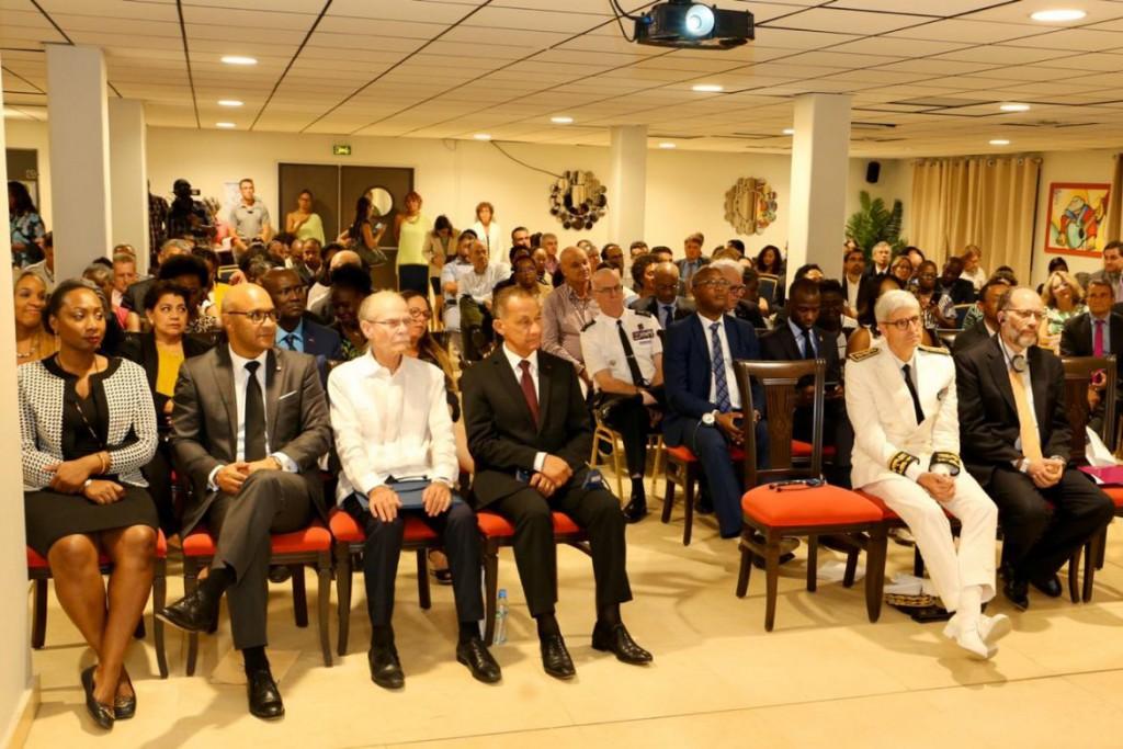 Les président des Collectivités de Saint-Martin, de Martinique et de Guyane lors de la XVe Conférence de coopération régionale Antilles-Guyane © CTG