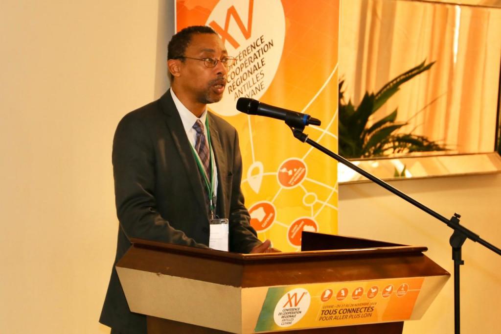 Intervention de l'ambassadeur delégué à la cooperation regionale Antilles Guyane Jean Bernard Nilam © CTG