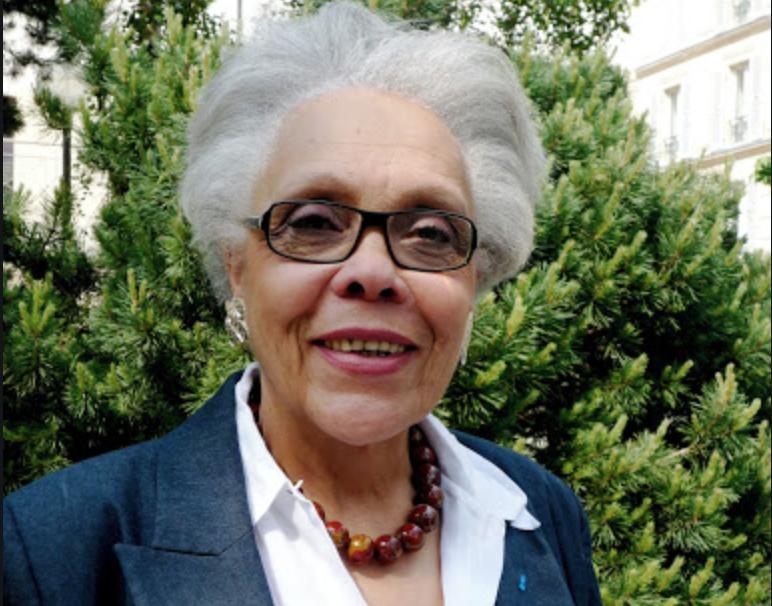 La présidente de l'association « Femmes au-delà des mers », Gisèle Bourquin, lauréate 2020 du Prix de la délégation aux droits des femmes du Sénat
