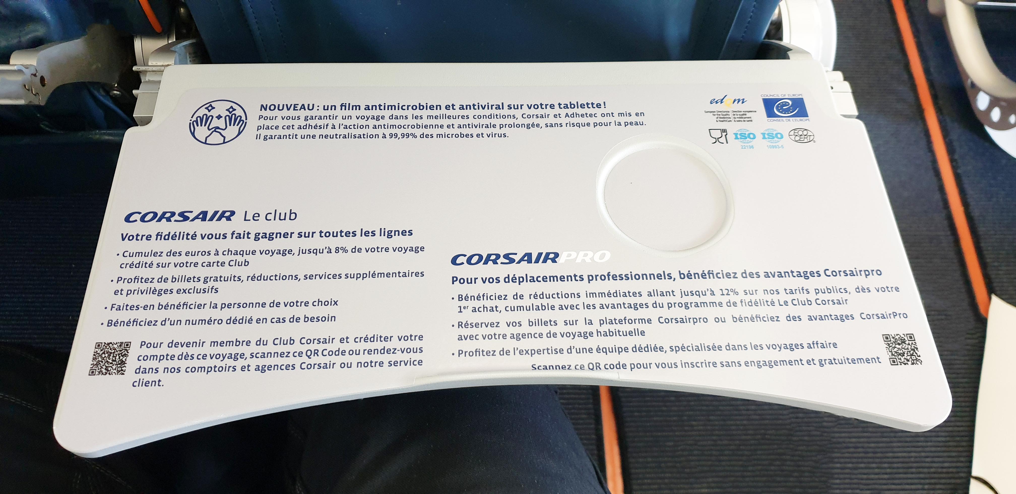 La compagnie aérienne Corsair implémente des films virucides sur les plateaux repas