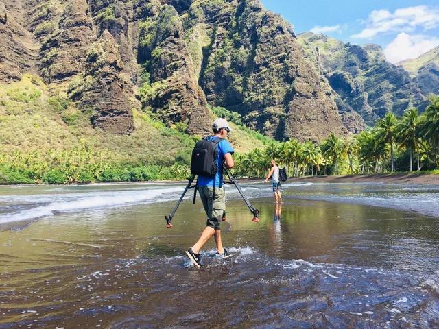 Tournage du documentaire en Polynésie © DR