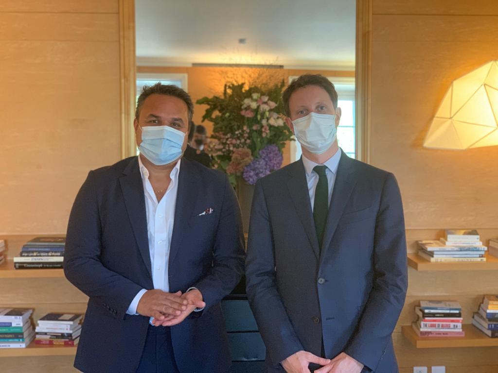 Plan de Relance européen: Didier Robert rencontre le Secrétaire d'Etat chargé des Affaires Européennes, Clément Beaune à Paris