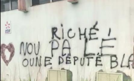 Guyane: Une enquête ouverte après la découverte d'un tag raciste visant David Riché