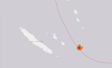 Séisme de magnitude 6,4 au large de la Nouvelle-Calédonie (USGS)