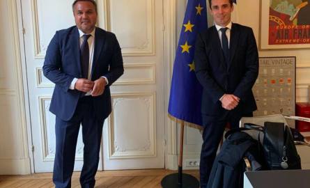 La Réunion : Didier Robert rencontre le Ministre délégué chargé des Transports, Jean-Baptiste Djebbari