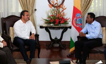 Le Président de la Région Réunion Didier Robert s'entretient avec le Président de la République des Seychelles