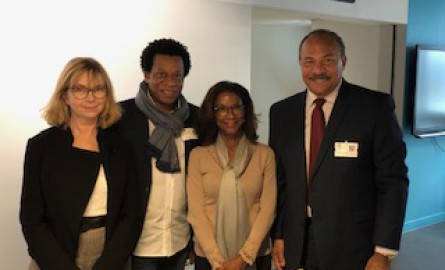 Numérique en Outre-mer : Le maire du Lamentin en Martinique David  Zobda en visite à « Orange Gardens » à Paris