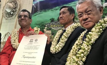 UNESCO : Le Marae Taputapuatea reçoit son certificat d'inscription au Patrimoine mondial de l'Humanité à Paris
