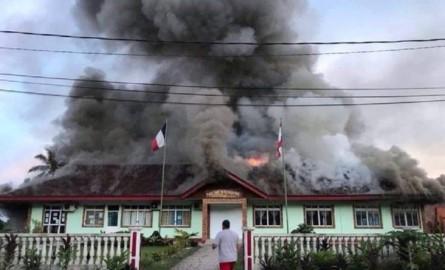 En Polynésie, un incendie ravage la Mairie de l'île de Huahine