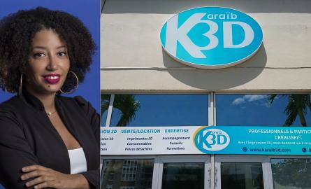 Innovation en Outre-mer : Estelle Hilaire de Karaïb3D (Martinique ): «L'impression 3D offre aux antillais des moyens locaux de création et de fabrication»