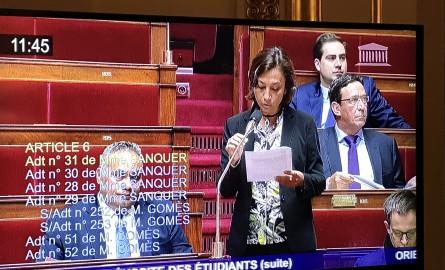 Enseignement supérieur: Nicole Sanquer défend à l'Assemblée nationale les droits  des étudiants polynésiens